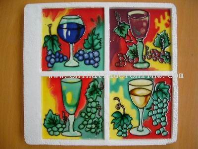 Unique Art Ceramic Tile Coaster