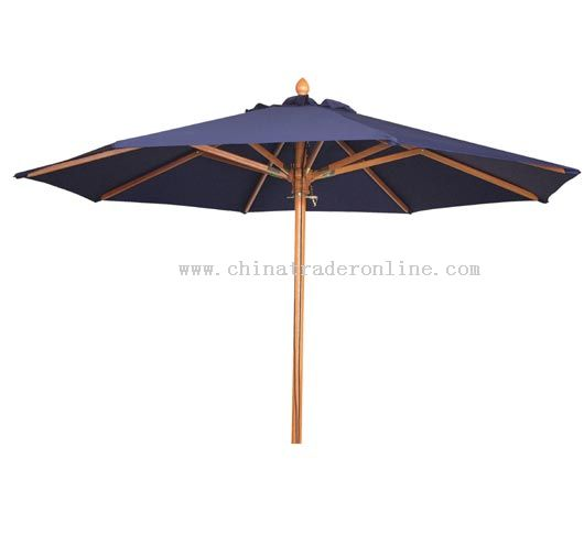 9' Wood Market Umbrellas | Wood Patio Umbrellas