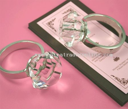 Crystal Glass Napkin Ring