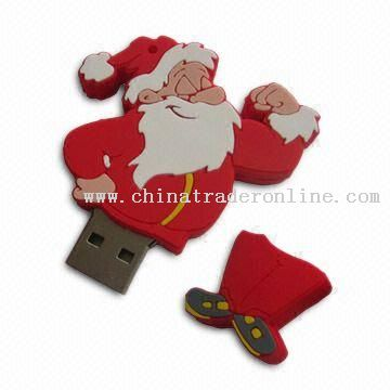 Santa Claus (Christmas Day) PVC USB Flash Drive