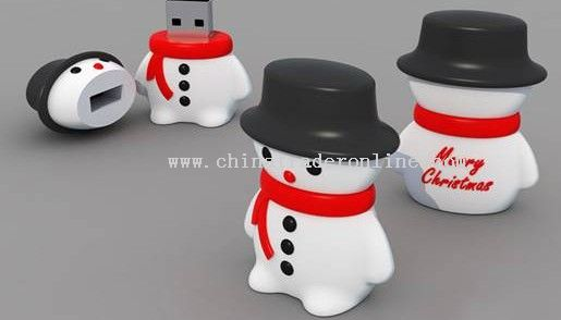 snowman USB flash drive for Christmas gifts