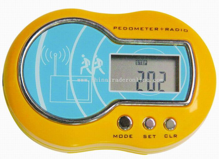 Calorie Pedometer with FM Radio