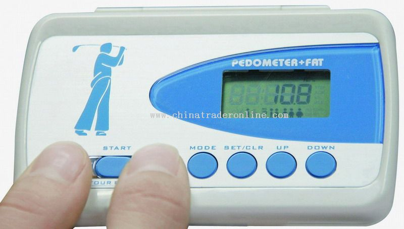 Name-Card Holder Pedometer with Body Fat Analyzer