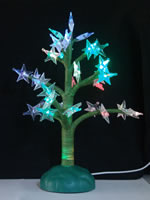 USB 7 Color Fiber Tree With Branch Star from China