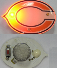 Flashing LED Badge With Switch