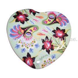 HEART-SHAPED Tin Badge
