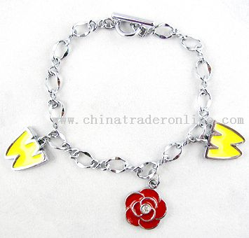 Customized Alloy Charm Bracelet