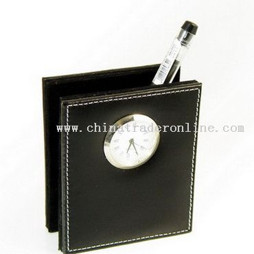 Pen Holder with Clock from China