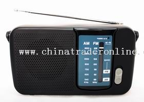 2 Band AM/FM Portable Radio Receiver