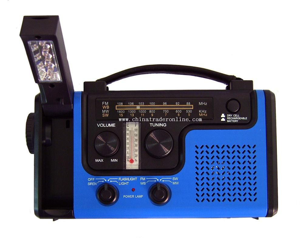 Solar Dynamo Radio with Reading Lamp
