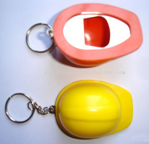 Mini Cap Keychain with Bottle Opener