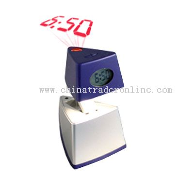 Digital Projection Clock W/ Little Night Light from China