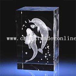 3D Inner Laser Crystal Mermaid