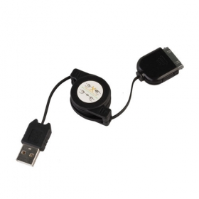 Retractable USB Data + Charging Cable for All iPod/iPhone 2G/3G (70CM-Cable)