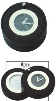 Leather Clock With Photoframe