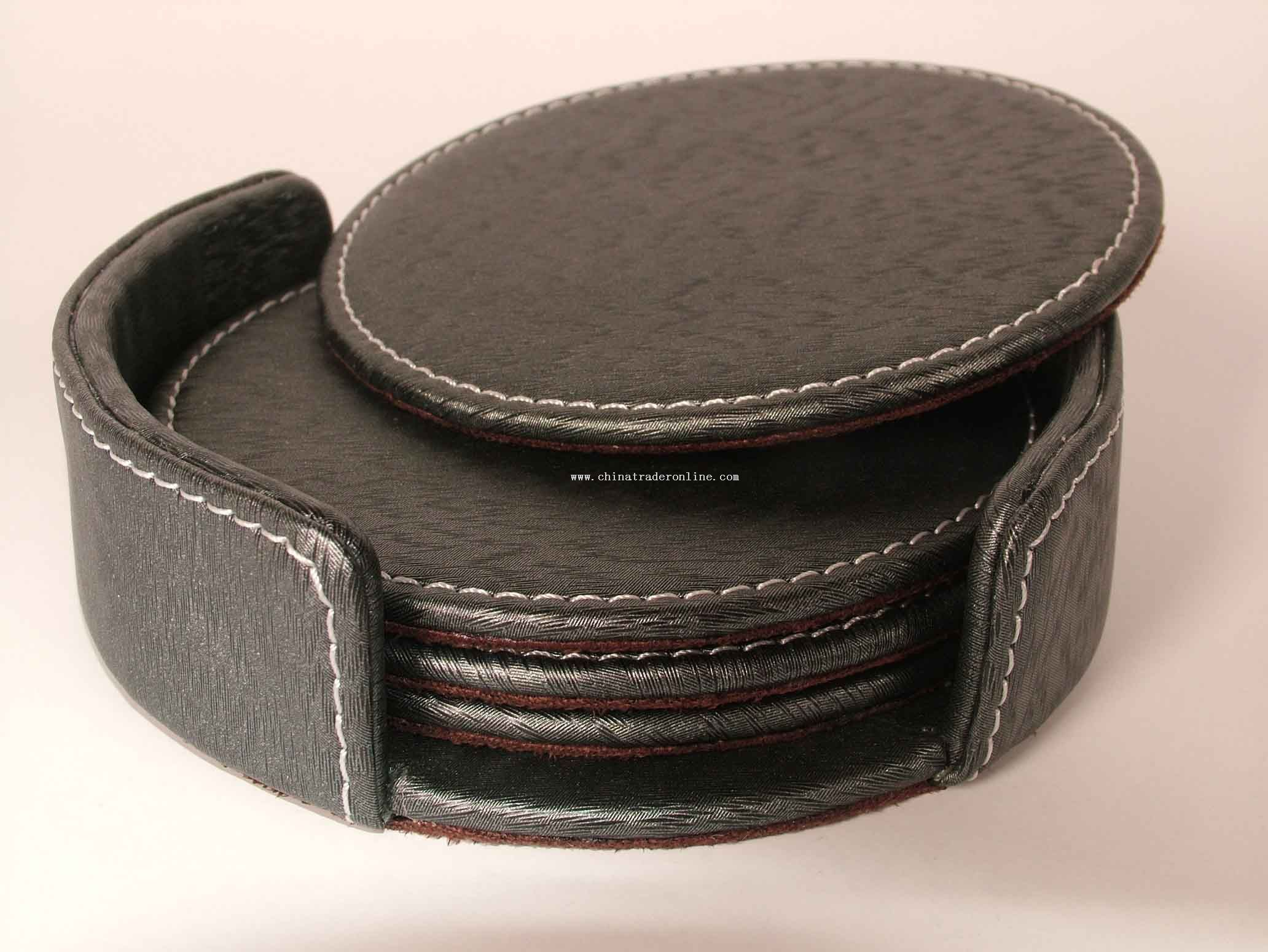 PU/PVC faux leather Coaster
