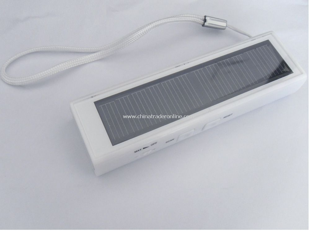 Solar Charger With Torch And Fm Radio