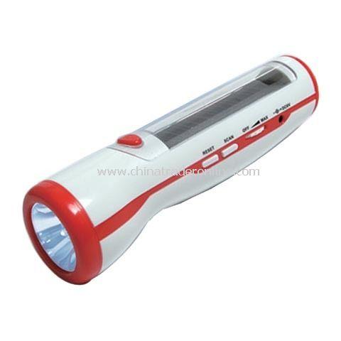 Solar Multi-Function Flashlight with Radio