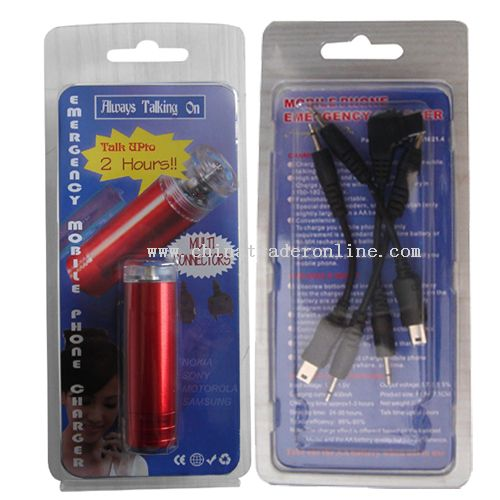 AA battery emergency mobile phone Charger