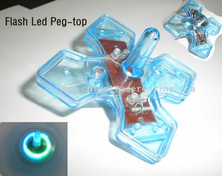 Novelty LED Flashing Peg-top