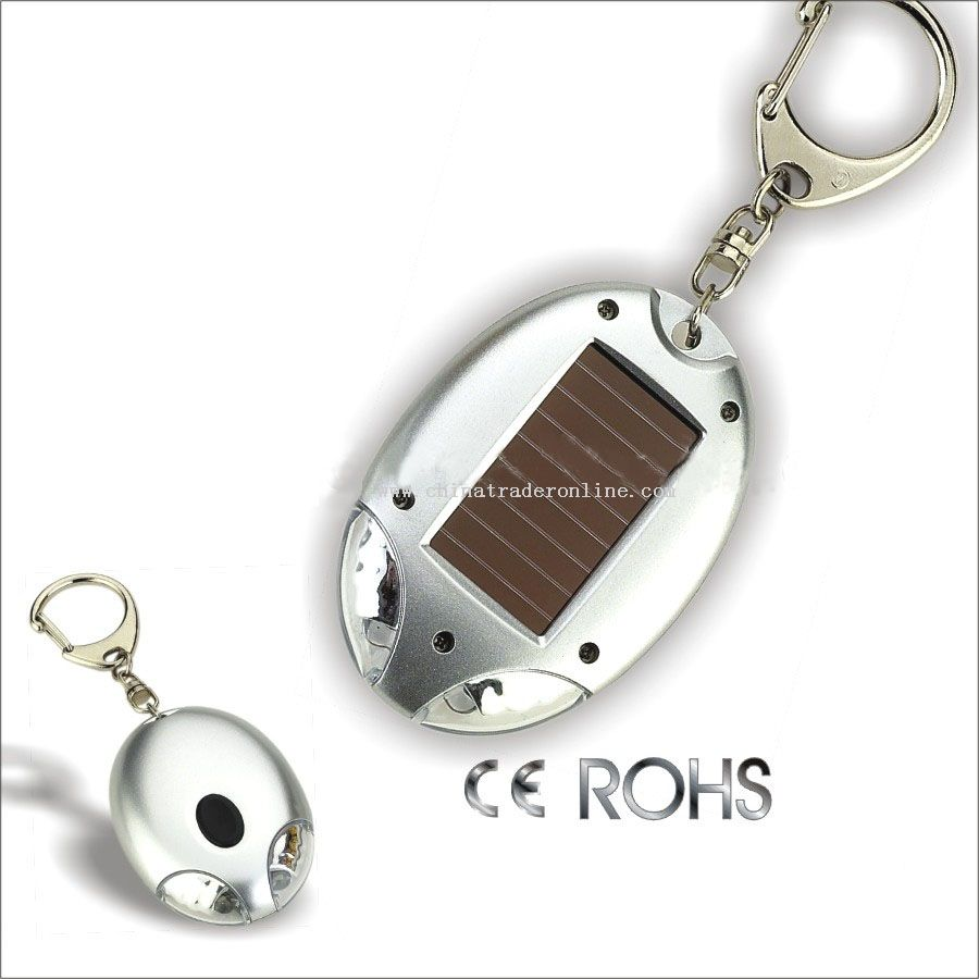 Solar-energy LED light and keychains