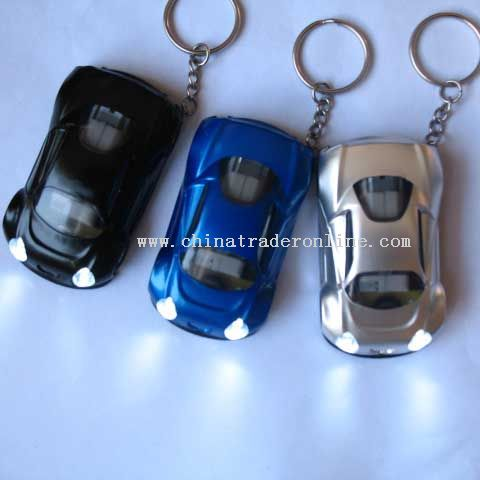 Car Design Rotary Mini Torch Keychain