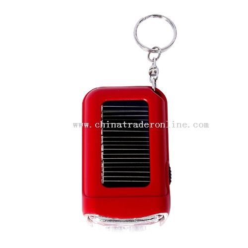 mini solar flashlights keychain