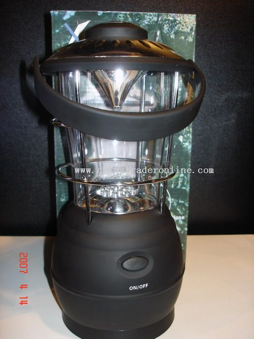 Dynamo 12 LEDs camping lantern wih AM/FM Radio and Compass
