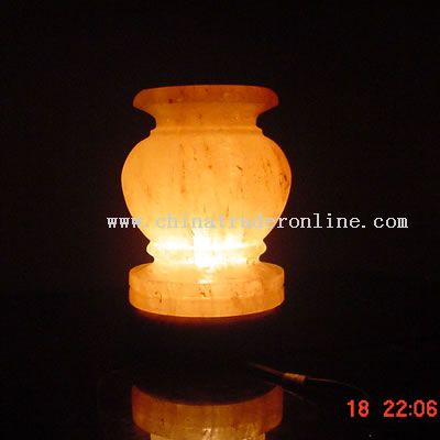ROCK SALT VASE LAMP