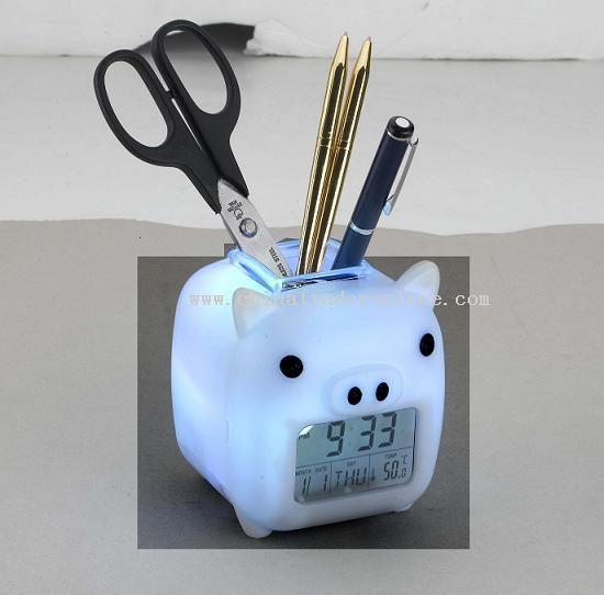 colorful pig shape pen holder