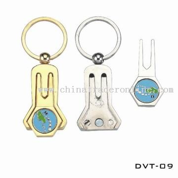 Golf Divot Tool and Ball Markers in Keychain Type
