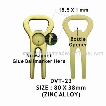 Golf Divot Tool with Bottle Opener and Ball Marker