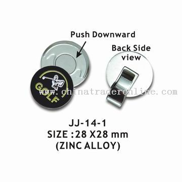 Golf Hat Clip and Ball Marker