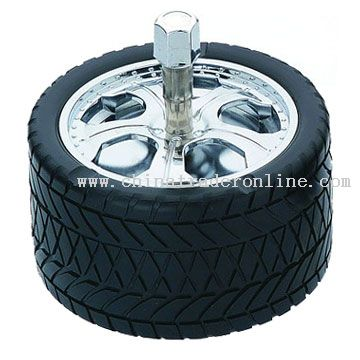 Car tyre spinning ashtray