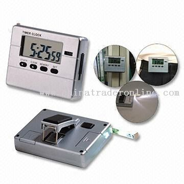 Multifunction Timer Clock with Tape Measure