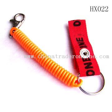 Plastic spring key chain