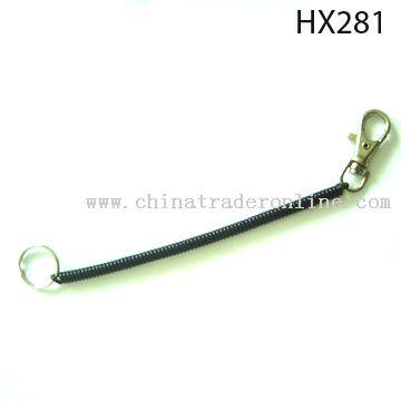 Plastic spring keychain