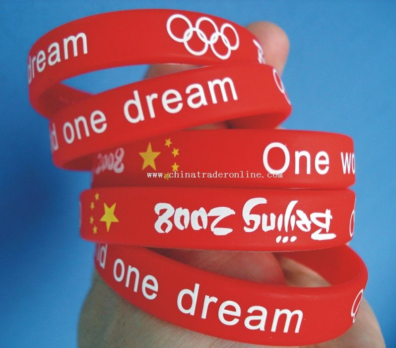 Silcone Wristband for Olympic