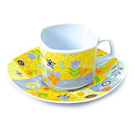 MELAMINE COFFEE CUP&SAUCER from China