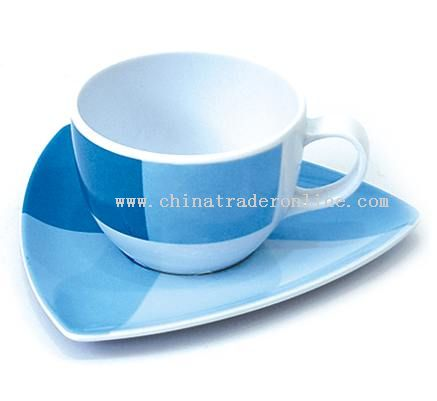 MELAMINE COFFEE CUP&SAUCER