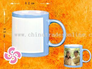Outside colored mug from China