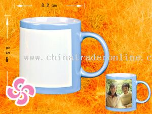 Outside colored mug