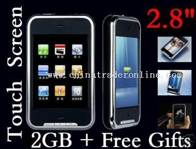 2.8 Iphone Touch Screen Mp4 player