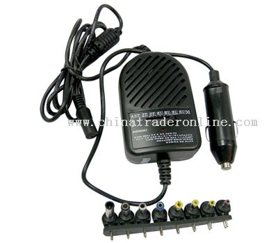 70W Universal DC/AC Car Charger with 8 Connectors