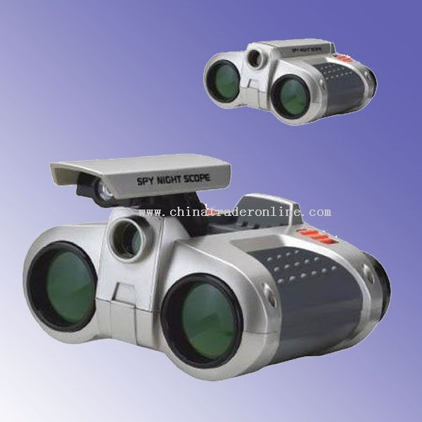 Binoculars with pop-up light for the use at night