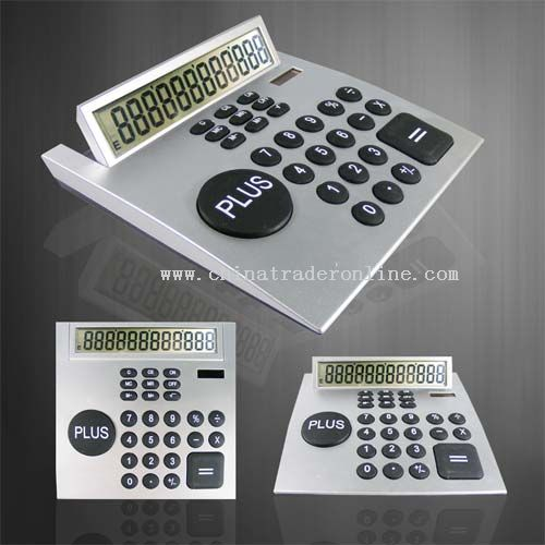 12 digits calculator dual power with solar power battery