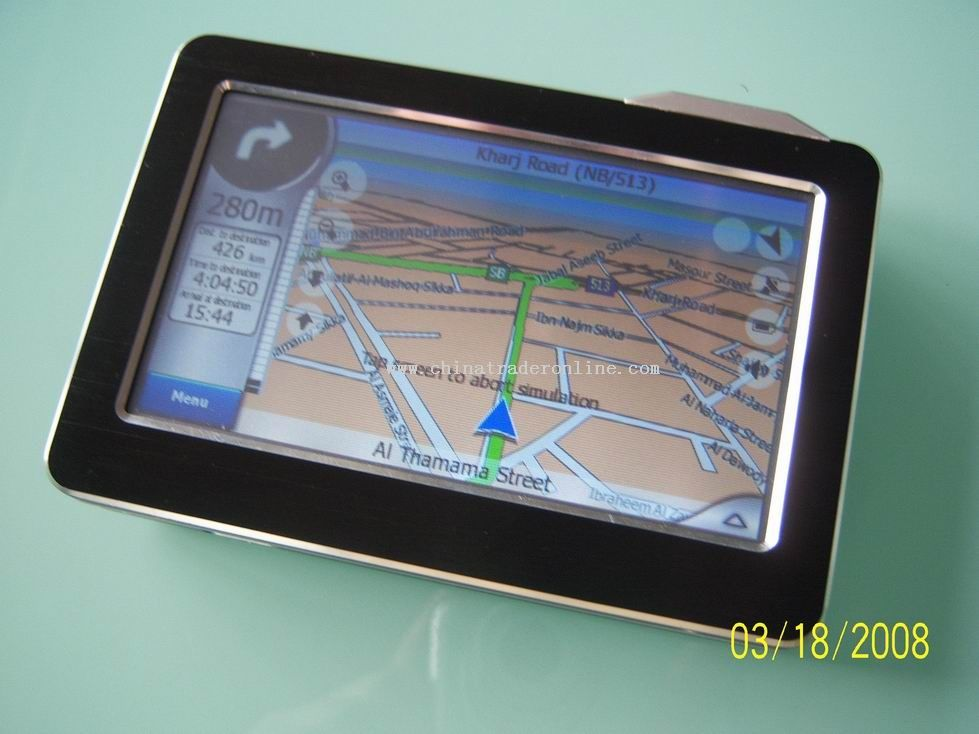 4.3 inch GPS navigator with FM function