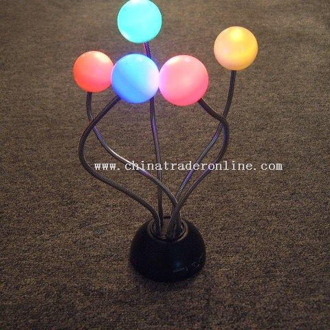 Sound sensor 5 LED Ball Light Stand from China