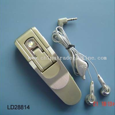 book clip LED reading light with FM auto scan radio