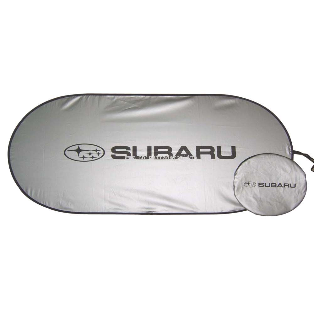 Anti-uv Silver Nylon Car Sun Shade